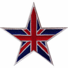UK Flag Star Patch Embroidered Iron On Sew On Union Jack British Badge Applique