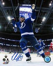 Victor Hedman Tampa Bay Lightning Signed Autographed Cup Goal Celebration 8x10
