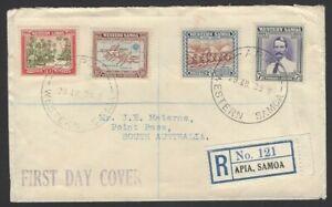 Western Samoa 1939 registered FDC to NZ