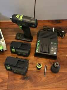 Festool TDK15.6 Cordless Drill Driver, Centrotec, Systainer, Chuck & Charger
