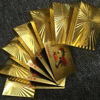 Mode ansprechende High Grade Silber Gold Folie Poker Spielkarten wasserdichtPD