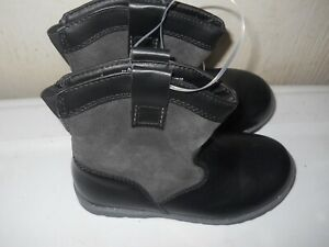 Cat And Jack Toddler Boy Dress Boots Black Suede Leather sizes 5,6,7,8,12 (B28)