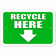 Plastic Sign Recycle Here Arrow