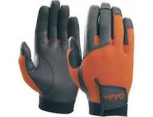 Cabela's Upland Sport Men's Mesh Burnt Orange Leather Shooting Hunting Gloves