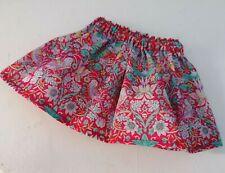 BJB Vintage Sasha dolls clothes Pretty red strawberry thief Liberty print skirt
