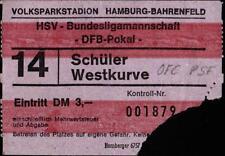 Ticket DFB-Pokal Halbfinale 73/74 Hamburger SV - Kickers Offenbach