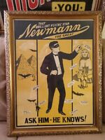 Newmann the Great Psychic Star ORIGINAL VINTAGE LITHOGRAPHIC PRINT FRAMED