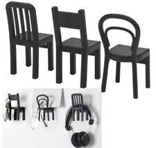 Ikea FJANTIG Coat Jacket Keys Jewelry Clothes Hooks Hangers,Set 3,Black UK-B786