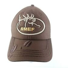 Rmef Rocky Mountain Elk Foundation Volunteer Embroidered Velcro Back Hat NWOT