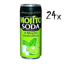 24 Dose MOJITOSODA 330 ml Campari Group Mojito Limette alkoholfrei italienisch