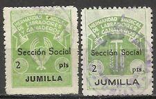 3559-2 SELLOS LOCALES  DIFERENTE  FALANGE CNS SINDICATO JUMILLA MURCIA HERMANDAD