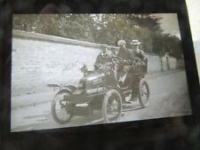 PLAQUE DE VERRE PHOTO 1903 AUTOMOBILE DE DION BOUTON