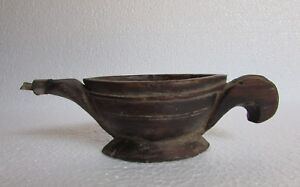 """1900""""s Vintage Old Hand Carved Wooden Opium Water Kharal Bowl Collectible"""