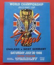 More details for programme england v west germany wembley stadium world cup final 1966 re-print