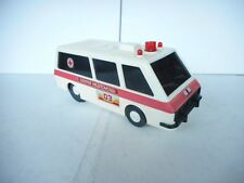 1/18 About Old plastic mechanical toy ambulance battery operated made in USSR