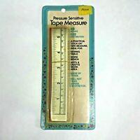 """Pressure Sensitive Tape Measure Tyvek 48"""" Stick On Vintage Made USA 1988 NOS"""