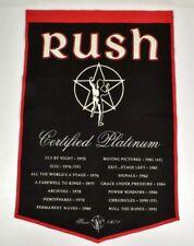 Rush Band Banner Felt Material  2 X 3 Feet Mint Condition!