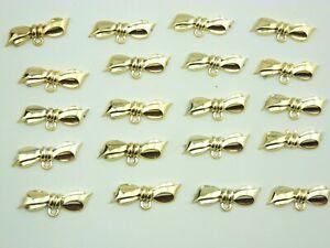20 Stück Accessoires Schleife mit Oese goldfarben NEU