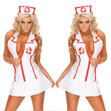 Sexy De Mujer Enfermera Doctor Cosplay Disfraz lencería erótica 3 Piezas Set