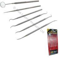 Stainless Steel Dental Set Tools Dentist Teeth Inspection Hygiene Picks Mirror