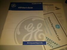 New listing Ge Vcr User's Guide Vg2000/Vg4000 User's Guide, Dated 1996