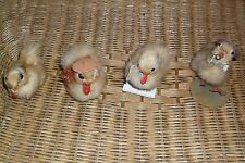 VINTAGE EASTER REAL STUFFED DUCKLING DECORATION LOT OF 3 PLUS ONE FREEBIE