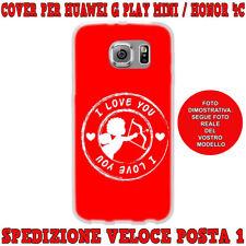 Cover per Huawei G PLAY MINI - HONOR 4C custodia gomma di silicone CUPIDO I LOVE