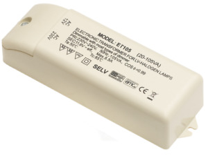 Low Voltage Lighting Transformer AMP Plug 60VA 105VA ET105 Leyton Dimmable