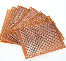 PCB Prototype Board Copper Strip Board 5x7cm. (10 Pieces) UK POSTAGE