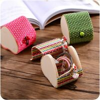 Bamboo Wooden Ring Necklace Earrings Case Jewelry Box Storage Organizer Case DP,