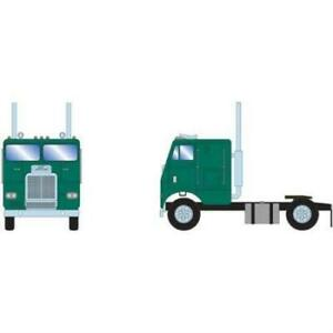 Athearn 1/87 HO Freightliner Single Axle Cabover W/Sleeper Green 91125