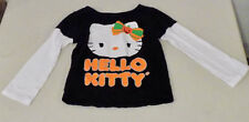Hello Kitty Halloween Shirt Size 4T Glitter Sparkle Long Sleeve