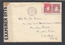 UK IRELAND 1942 WWII TWICE CENSORED COVER DUBLIN TO LONDON ENGLAND