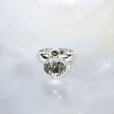 Turmalinquarz Ring, 925er Silber, Edelsteinring (21466), mit Turmalin