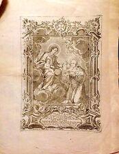 VALLADOLID, SIMÓN DE ROJAS, Virgen de la Escalera, grabado original, 1766.
