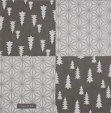 """Navidad Árboles Copo De Nieve Gris 3 capas 20 servilletas Papel 13"""" X13 """"–"""