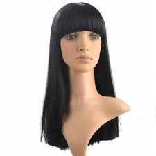 Long Straight Wig Natural Black Synthetic Wig Kanekalon Womenn's Party Wig Hair