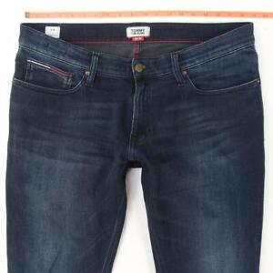 Mens Tommy Hilfiger SCANTON SLIM Stretch Slim Straight Blue Jeans W36 L36
