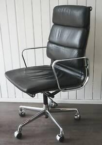 True Vintage original Vitra EA 219 Charles Eames Alu-Chair Softpad Leder schwarz