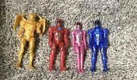 "SCG Power Rangers Action Figure Lot Mighty Morphin Movie 5"" Goldar Pink Blue Red"