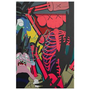 Banksy Trippy Psychedelic Headshot Graffiti Street FINE ART PRINT Rare 70x40cm