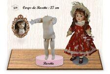"""DOLL BODY for ROSETTE or 13/14"""" doll - (Body Height : 11"""") - G.BRAVOT - FRANCE"""