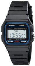 Casio F91W-1 Classic Resin Strap Digital Sport Watch Black Gift Top Quality New