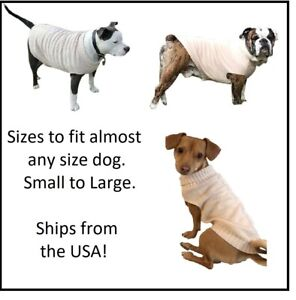 Eggshell Cable Knitted Ribbed Turtle Neck Dog Sweater for Large to Small Dogs