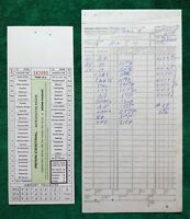 Vintage Penn Central Railroad Switch List & Conductor's Special Roundtrip Ticket