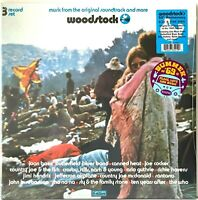 Woodstock Original Soundtrack 3LP LP Pink and Blue Vinyl Record Album New Sealed
