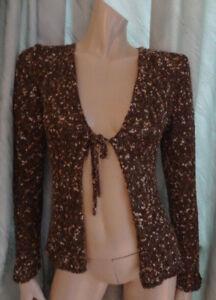 (284JAN) Size 12 *PER UNA* Chic brown mix chunky cardigan ladies/womens