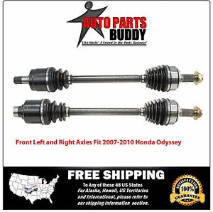 2 New Front CV Axles 2007-2010 Honda Odyssey With Warranty Free Shipping