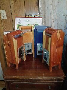 Handmade Wood Mailbox,Vintage P.O. Box Door, the cedar on right is left.  15x5x6
