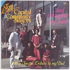 TOM LEWIS & CAPITAL SINGERS: Lord Strengthen BLACK GOSPEL LP Rare Disco Funk
